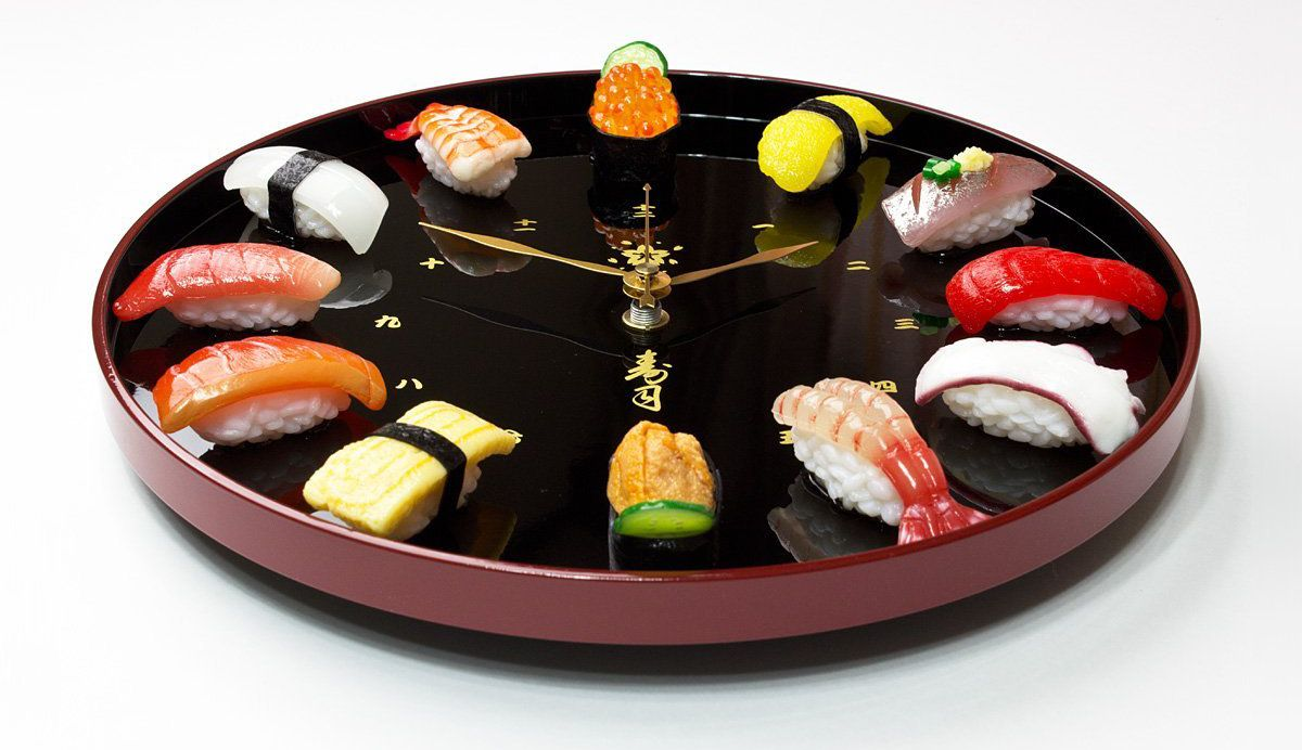 寿司の掛け時計